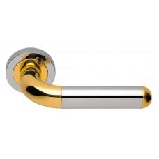 """Дверные ручки Morelli Luxury """"GAVANA"""" COT Цвет - Полированный хром/золото"""