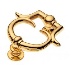 """Дверной молоток """"Барокко"""" 120мм. Цвет - Золото"""