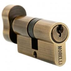 Ключевой цилиндр Morelli с поворотной ручкой (50 мм) 50CK AB Цвет - Античная бронза