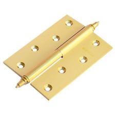 Петля Morelli латунная разъёмная  с короной MB 100X70X3 PG R C Цвет - Золото