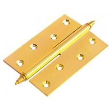 Петля Morelli латунная разъёмная  с короной MB 100X70X3 SG L C Цвет - Матовое золото