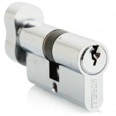 Ключевой цилиндр Morelli с поворотной ручкой (50 мм) 50CK PC Цвет - Хром