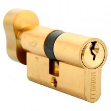 Ключевой цилиндр Morelli с поворотной ручкой (50 мм) 50CK PG Цвет - Золото