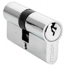 Ключевой цилиндр Morelli ключ/ключ (50 мм) 50C PC Цвет - Хром