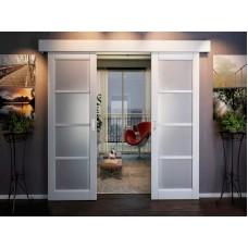 Комплект STABLE SET V-3 для двустворчатой двери до 100кг, ширина двери от 760 до 1100мм, двойной доводчик